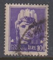 Italy S 258 1929-42 Imperiale, Lire 10 Violet, Used - 1900-44 Vittorio Emanuele III