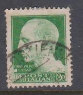 Italy S 259 1929-42 Imperiale, Lire 20 Green, Used - 1900-44 Victor Emmanuel III