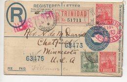 REGISTERED LETTER 07 01 1911 #160 - Trinidad & Tobago (1962-...)