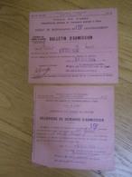 APHP - Ville De Paris Bureau De Bienfaisance Du 19e Arrondissement Assistance Aux Femmes En Couche - 1934 - Tickets - Entradas