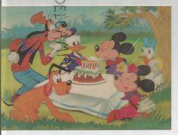 Quarantième Anniversaire De Mickey. Minnie, Dingo, Pluto, Donald Duck, Daisy, Gâteau D'anniversaire. - Cartes Stéréoscopiques
