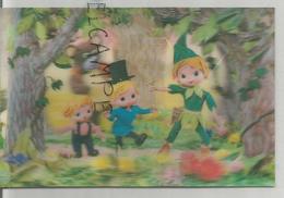 Elfe Sylvestre, Enfants, Ours Dans La Forêt. - Cartes Stéréoscopiques