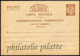 -France Entier Postal  431 Sans Valeur CP3 Type Iris - Autres