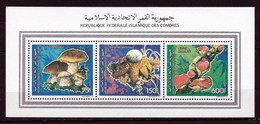 Comores  Feuillet  Neufs ** TTB  Champignon  Mushroom Cogumelo Setas - Pilze