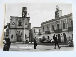 CALIMERA  PIAZZA DEL SOLE  LECCE  PUGLIA    VIAGGIATA  COME DA FOTO LEGGERA PIEGA - Lecce