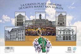 Blok 228** De Grote Markt Van Bergen & Doudou 4527/31** La Grand Place De Mons Et Doudou - Blocks & Sheetlets 1962-....