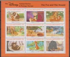 2512  Walt Disney  Grenada  Grenadines  The Fox And The Hound - Grenade (1974-...)
