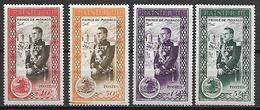 MONACO    -    1950.    Y&T N° 338 à 341 * .  Avènement Du Prince Rainier III - Monaco