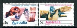 Australia 1968 Soil Science Congress & World Medical Association Set MNH (SG 426-427) - Mint Stamps