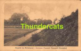 CPA CHAPELLE LEZ HERLAIMONT ANCIENNE CHAUSSEE BRUNAULT ROMAINE ( PLI - CREASE - PLOOI ) - Chapelle-lez-Herlaimont