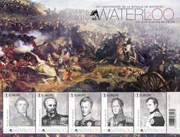 Blok 229** Bicentenaire De La Bataille De Waterloo 4532/36** / 200ste Verjaardag V/d Slag Van Waterloo - Blocs 1962-....