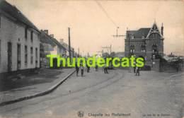 CPA CHAPELLE LEZ HERLAIMONT LA RUE DE LA STATION TRAM - Chapelle-lez-Herlaimont