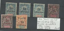 Tahiti 1903 Lot N° 31 à 33,  Diverses Qualités, Cote YT 68€ - Tahiti