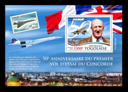 Togo 2019 Mih. 9799 (Bl.1740) Aviation. Supersonic Airliners Concorde MNH ** - Togo (1960-...)