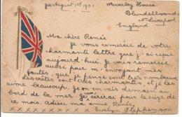 L120B_600 Bis - Drapeau Britannique - Union Jack - Carte Précurseur - Ver. Königreich