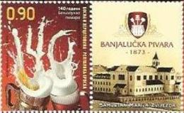 BHRS 2013-591 BREWERY BANJA LUKA, BOSNA AND HERZEGOVINA - R.SRPSKA, 1 X 1v + Label, MNH - Bières