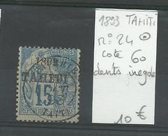 Tahiti 1893, N° 24 Oblitéré, Cote YT 60 € - Tahiti