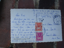 Lettre Taxee Timbre Gerbes Gerbe Taxe 10 Et 5 F - Postage Due Covers