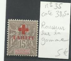 Tahiti 1903, N° 35, Surcharge Croix Rouge, Cote YT 38€ 50 - Tahiti