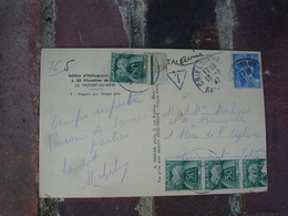 Lettre Taxee Timbre Gerbes Gerbe 4 Timbre 50 F - Postage Due Covers