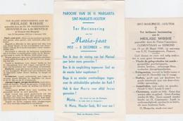 SINT-MARGRIETE-HOUTEM-TIENEN-LOTJE-3 PRENTJES-HEILIGE MISSIE-1934+1948+MARIAJAAR 1953-MOOIE STAAT+RARE-ZIE DE 2 SCANS ! - Images Religieuses
