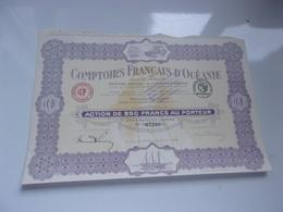 Comptoirs Français D'océanie (PAPEETE , TAHITI) - Actions & Titres