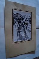 Coureurs Cyclistes, Tour De France 1958,Schmitz,Gaul,Bobet,Robinson,17 Cm. Sur 12 Cm. - Cycling