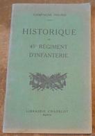 Historique Du 45 ème Régiment D'Infanterie - Guerre 1914-18