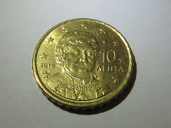 10 Euro Cent 2010 Griechenland Greece Grèque! Rare! Issue Only 4.9 M - Griechenland