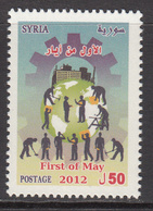 2012 Syria First Of May Industry Construction Workers Complete Set Of 1 MNH - Syrien