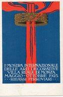 1° MOSTRA INTERNAZIONALE ARTI DECORATIVE - VILLA REALE MONZA 1923 - Illustratore SCARZELLA - NON VIAGGIATA - Expositions