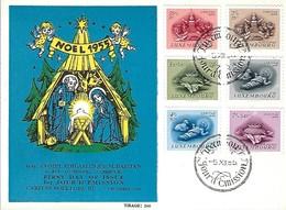 5.12.1955  -  Edit. Compt. Philatlétique Mathias Bastian - 1er Jour D'émission - First Day Ofissue   Timbre Caritas - FDC