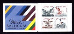 LETTONIE 1992 - CARNET Yvert C304 - NEUF** MNH - Faune, Oiseaux De La Baltique, Birds - Lettonie