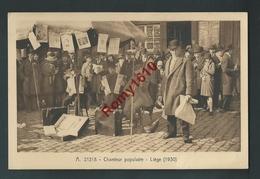 LIEGE. Chanteur Populaire. Chanteur Des Rues. Accordéons, Violon.... 1930.  2 Scans. - Liege