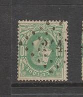 COB 30 Oblitération à Points 244 MERBES-LE-CHATEAU +6 - 1869-1883 Léopold II