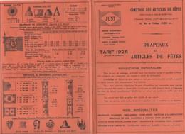 (jouets) Paris 3e : Rue De Turbigo : Catalogue JUST  Articles De Fêtes   1926 (PPP11144) - Werbung