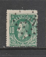 COB 30 Oblitération à Points 247 METTET +6 - 1869-1883 Léopold II
