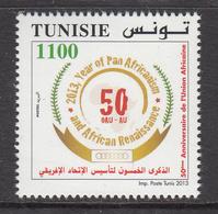 2013 Tunisia Tunisie Pan Africanism Complete Set Of 1 MNH - Tunesië (1956-...)