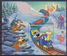 2525  Walt Disney  Grenada  Grenadines -  Tic - Tac And Mickey To Toon Toun . - Grenade (1974-...)