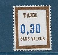 Timbre  Fictif Neuf** France, N°FT 16, Taxe, 0.30 - Fictifs