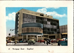 ! Older Postcard Bagdad, Baghdad, Irak, Mortgage Bank, Autos, Cars - Irak