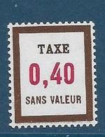 Timbre  Fictif Neuf** France, N°FT 24, Taxe,0.40 - Fictie