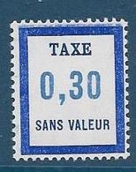 Timbre  Fictif Neuf** France, N°FT 19, Taxe,0.30 - Fictie