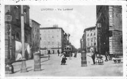 Livorno - Via Larderell (animation, Tram Tramway Hôtel Giappone 1918) - Livorno