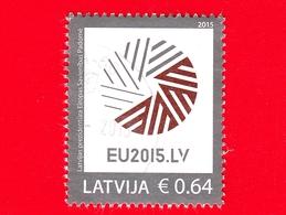 LETTONIA - LATVIJA - Usato - 2015 - Unione Europea - Consiglio D'Europa, Presidenza Lettone - 0.64 - Lettonia
