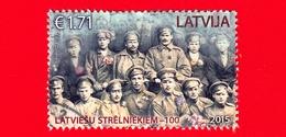 LETTONIA - LATVIJA - Usato - 2015 - Forze Armate - Prima Guerra Mondiale - Fucilieri - Latvian Riflemen – 100 - 1.71 - Lettonia