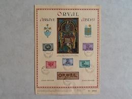 Nr.625/630  Herdenkingsblad Vijfde Orval. Sierletters. - Belgique