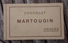 CPA - Carnet 12 Cartes Chocolat MARTOUGIN - Anvers - Werbepostkarten