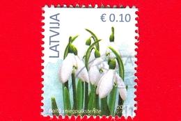 LETTONIA - LATVIJA - Usato - 2017 - Fiori - Bucaneve - Snowdrop - 0.10 - Lettonia