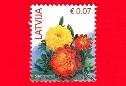 LETTONIA - LATVIJA - Usato - 2019 - Fiori - Flowers (2019 Imprint Date) - 0.07 - Lettonia